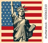 usa concept with icon design ... | Shutterstock .eps vector #432061210