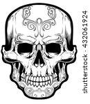 sugar skull vector | Shutterstock .eps vector #432061924