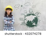 little girl engineering with... | Shutterstock . vector #432074278