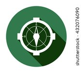 compass  icon   isolated. flat  ...   Shutterstock .eps vector #432076090