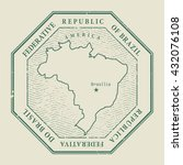 stamp with the name and map of... | Shutterstock .eps vector #432076108