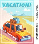 grunge vacation background with ... | Shutterstock .eps vector #432076903