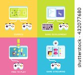 game related concepts. part 2.... | Shutterstock .eps vector #432077680