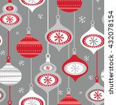 seamless christmas decoration... | Shutterstock .eps vector #432078154