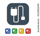 mobile cable icon isolated on...   Shutterstock .eps vector #432082690