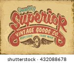 vintage quality label. t shirt... | Shutterstock .eps vector #432088678
