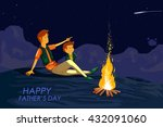 happy father's day greeting... | Shutterstock .eps vector #432091060