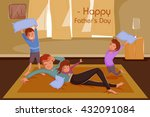 happy father's day greeting... | Shutterstock .eps vector #432091084