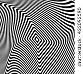 design monochrome illusion... | Shutterstock .eps vector #432092590