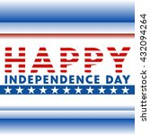 happy independence day.... | Shutterstock .eps vector #432094264