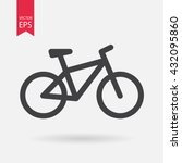bicycle. bike icon vector.... | Shutterstock .eps vector #432095860