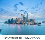 beautiful shanghai skyline in... | Shutterstock . vector #432099703