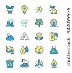 eco energy and power icons ... | Shutterstock .eps vector #432099979