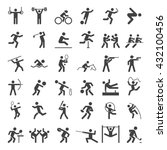 set of sport icons. vector... | Shutterstock .eps vector #432100456