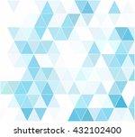 blue grid mosaic background ... | Shutterstock .eps vector #432102400