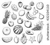 vector collection of sketches... | Shutterstock .eps vector #432104110