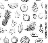vector collection of sketches... | Shutterstock .eps vector #432104200