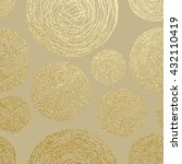 gold texture. circles pattern.... | Shutterstock .eps vector #432110419