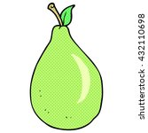 freehand drawn cartoon pear | Shutterstock .eps vector #432110698