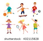 collection of cute happy... | Shutterstock . vector #432115828