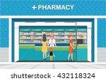 female pharmacist at the... | Shutterstock .eps vector #432118324