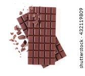 Stock photo chocolate bar isolated on white 432119809