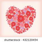 bright flowers in shape of... | Shutterstock .eps vector #432120454