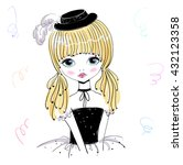 beautiful romantic girl in a... | Shutterstock .eps vector #432123358