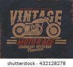 motorcycle. vintage motor tee... | Shutterstock .eps vector #432128278
