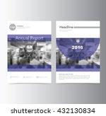 purple annual report brochure... | Shutterstock .eps vector #432130834
