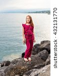 fashion stylish portrait of... | Shutterstock . vector #432131770