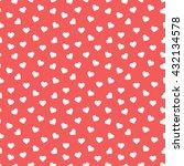 seamless heart pattern... | Shutterstock .eps vector #432134578