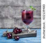 summer fruit cocktail with... | Shutterstock . vector #432139483