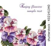 geranium watercolor flowers... | Shutterstock .eps vector #432141340