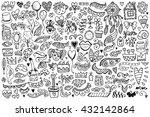 set of vintage sketch elements. ...   Shutterstock .eps vector #432142864