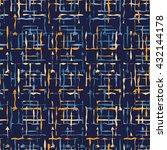ethnic boho seamless pattern.... | Shutterstock .eps vector #432144178