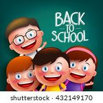 classmates kids vector... | Shutterstock .eps vector #432149170