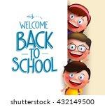 kids student vector characters... | Shutterstock .eps vector #432149500