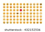 set of  emoticon vector... | Shutterstock .eps vector #432152536