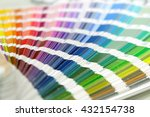 color palette guide on white... | Shutterstock . vector #432154738