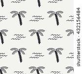 flat monochrome vector seamless ... | Shutterstock .eps vector #432156484