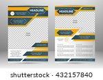 vector flyer template design.... | Shutterstock .eps vector #432157840