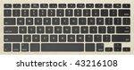 modern computer keyboard with...   Shutterstock . vector #43216108