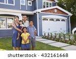 portrait of family standing... | Shutterstock . vector #432161668