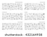 line set of horizontal concepts ... | Shutterstock .eps vector #432164938