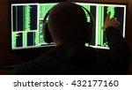 Hacker Is Looked To Binary Cod...