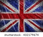 union jack flag background with ... | Shutterstock . vector #432179674