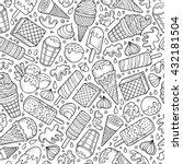 cartoon hand drawn ice cream... | Shutterstock .eps vector #432181504