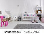 modern bedroom of little baby... | Shutterstock . vector #432182968