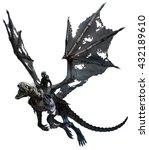 Skeletal Dragon 3d Illustration